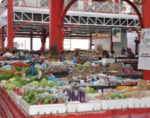 Le marché public de Papeete. Crédit photo: Saga70