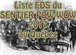liste EDS sentier pow-wow du Québec 2017